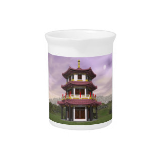 Pagoda in nature - 3D render Pitcher