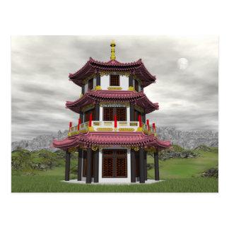 Pagoda in nature - 3D render Postcard