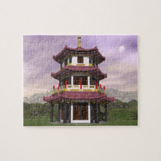 Pagoda in nature - 3D render Puzzle