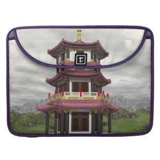 Pagoda in nature - 3D render Sleeve For MacBooks