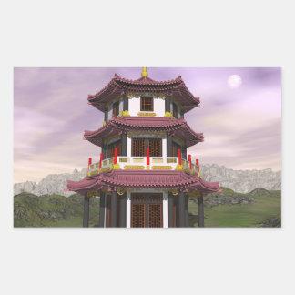 Pagoda in nature - 3D render Sticker