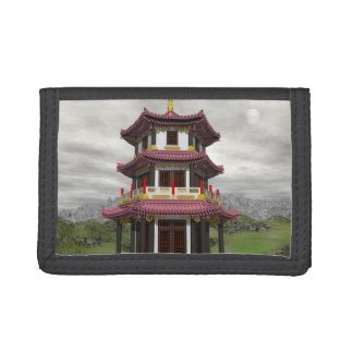 Pagoda in nature - 3D render Tri-fold Wallet