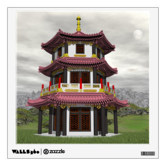 Pagoda in nature - 3D render Wall Decal