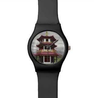 Pagoda in nature - 3D render Watches