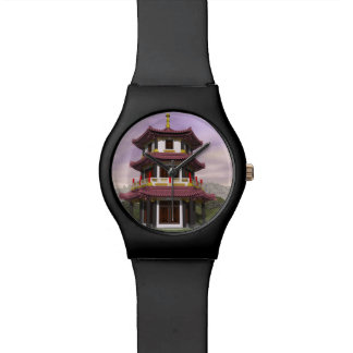 Pagoda in nature - 3D render Wrist Watch