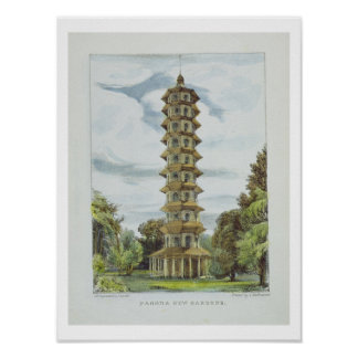 Pagoda, Kew Gardens, plate 9 from 'Kew Gardens: A Poster