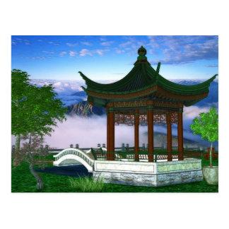 Pagoda Nature Landscape Fantasy Art Postcard