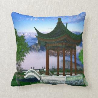 Pagoda Nature Landscape Fantasy Art Throw Pillow