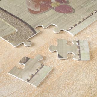 Pagoda Rose Mixed Media Oriental Jigsaw Puzzle