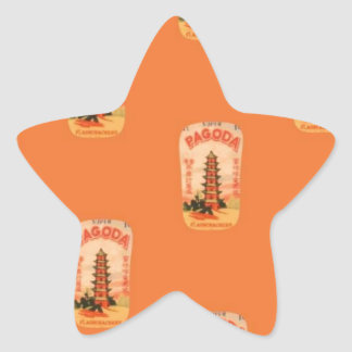Pagoda Star Sticker