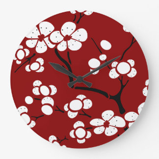 Pagoda Style Wall Clock in Red