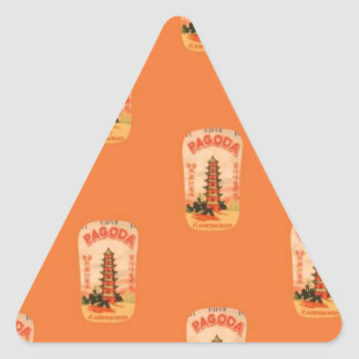 Pagoda Triangle Sticker