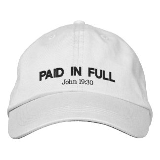 Paid In Full Embroidered Hat