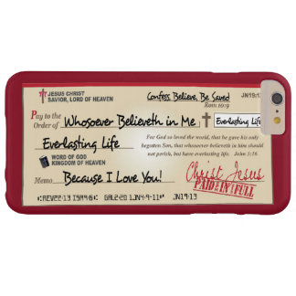 Paid in Full Saved by Jesus Check Christian Barely There iPhone 6 Plus Case