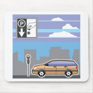 Paid Parking Meter car Vector Mouse Pad
