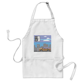 Paid Parking Meter car Vector Standard Apron