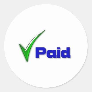 Paid Round Sticker