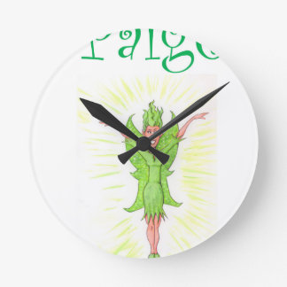 Paige is a Green Fairy Wallclock