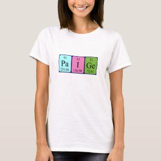 Paige periodic table name shirt