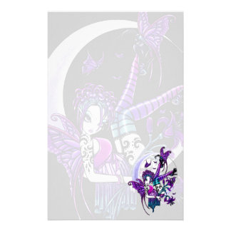 """""""Paige"""" Rainbow Butterfly Moon Fairy Art Sationery Stationery"""