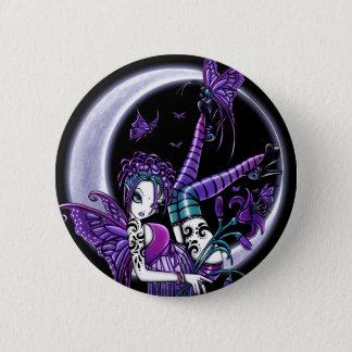 """Paige"" Rainbow Butterfly Moon Fairy Button"
