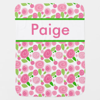 Paige's Personalized Rose Blanket