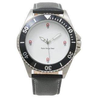 Pailin Group Custom Stainless Steel Black Leather Wrist Watch