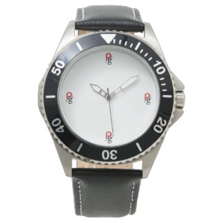 Pailin Group Custom Stainless Steel Black Leather Wristwatch