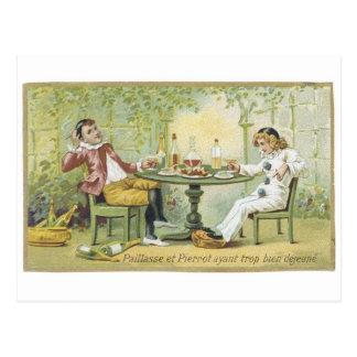 Paillasse et Pierrot Postcard
