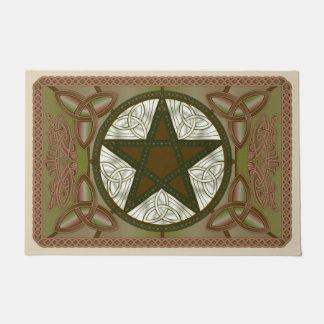 Paillasson Pentagone étoilé celtique, Tri-Quatras verts et