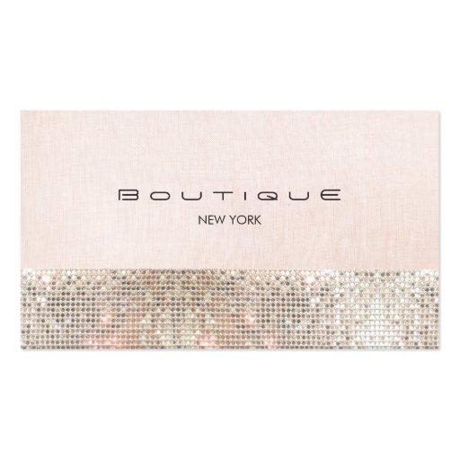Paillettes et boutique chic rose mignonne de toile modèle de carte de visite