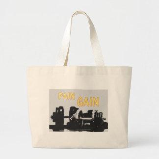 Pain and Gain Large Tote Bag