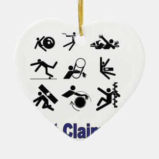 pain claims ceramic ornament