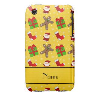 Pain d'épice jaune nommé fait sur commande de coques iPhone 3 Case-Mate