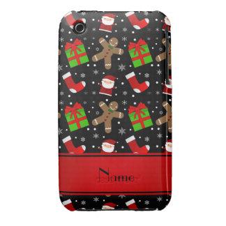 Pain d'épice noir nommé fait sur commande de Santa Coques iPhone 3