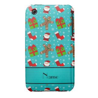Pain d'épice nommé fait sur commande de Santa de Coque Case-Mate iPhone 3