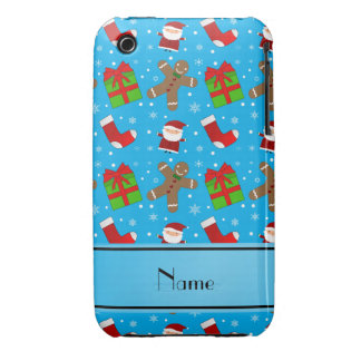 Pain d'épice nommé fait sur commande de Santa de Coques Case-Mate iPhone 3