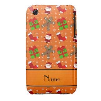 Pain d'épice orange nommé fait sur commande de coque iPhone 3