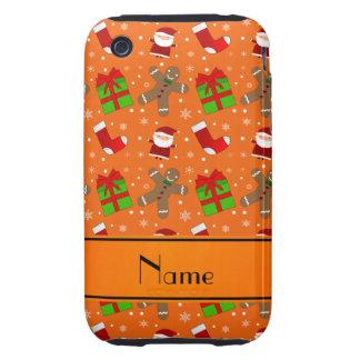 Pain d'épice orange nommé fait sur commande de étuis iPhone 3 tough