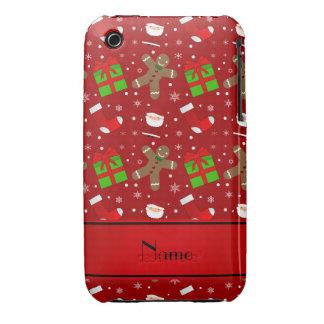 Pain d'épice rouge nommé fait sur commande de coques iPhone 3