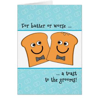 Pain grillé drôle de deux de mariés félicitations carte de vœux