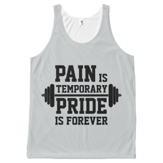 PAIN is temporary, PRIDE is forever All-Over-Print Tank Top