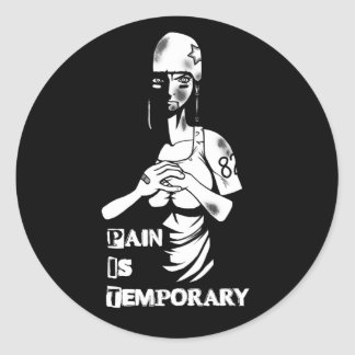 """Pain is Temporary"" Roller Derby Sticker"
