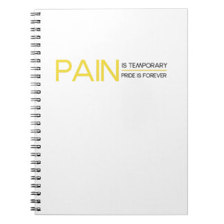 Pain is Temporary Workout Gym Funny Fitness Gift Spiral Notebook