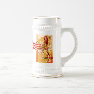 Pain Star Sin Red Tribal Logo Mug