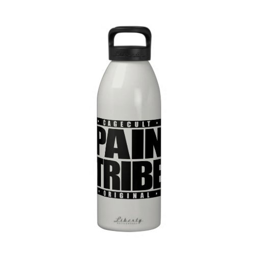 PAIN TRIBE: I Enjoy Mixed Martial Arts, Jet Black Drinking Bottle