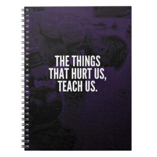 Pain - Workout Inspirational Words - Kettlebell Spiral Notebook