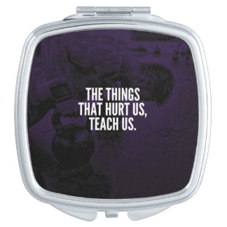Pain - Workout Inspirational Words - Kettlebell Travel Mirrors