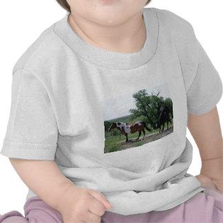 Paint and Black Horses Tshirt