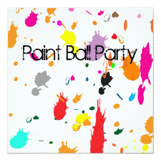 Paint Ball Party SPLATTER Invitation